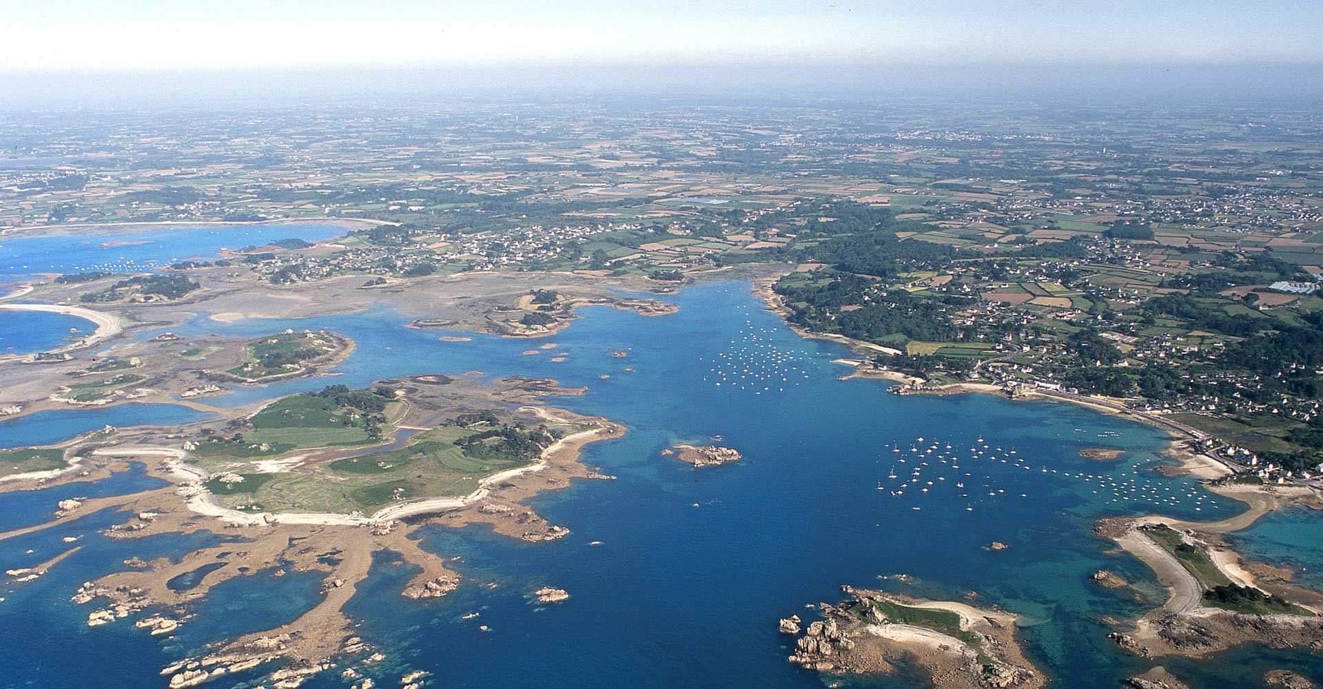 Vue aérienne de la côte
